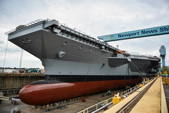 Newport News Shipbuilding Floods Dry Dock And Floats