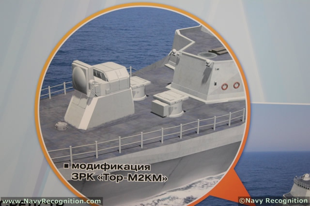 "According to industry sources, naval variants of the Pantsir and TOR-M2 short-range air defense systems should enter service with the Russian Navy in about two years. ""The Defense Ministry showed great interest in the naval variant of the Pantsir. It has been decided that several destroyers and other large warships will be modernized to accommodate the system,"" said Dmitry Konoplev, managing director of the KBP Instrument Design Bureau."
