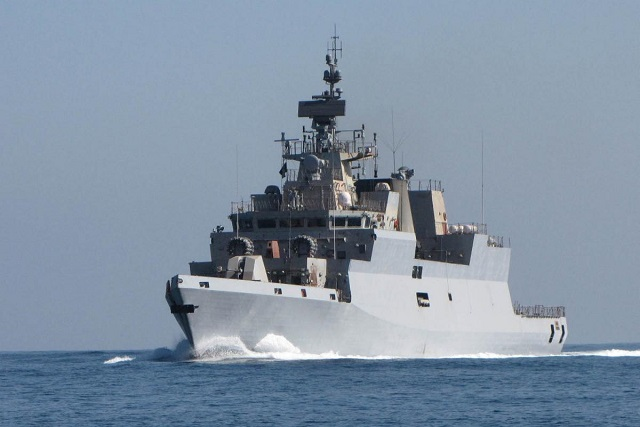 The first indigenously built stealth Anti-Submarine Warfare (ASW) Corvette 'INS Kamorta' built by M/s Garden Reach Shipyard (GRSE), Kolkata was commissioned today by Honourable Raksha Mantri Shri Arun Jaitely at Naval Dockyard, Visakhapatnam.