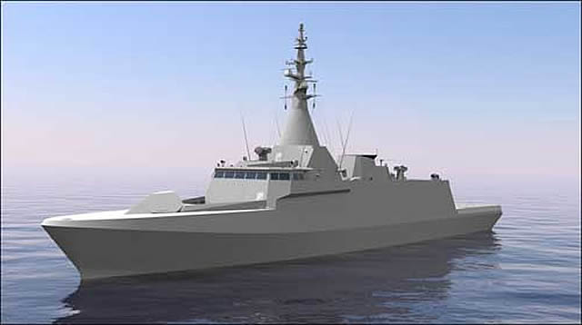 The Royal Malaysian Navy unveiled for the first time an official rendering of its future Littoral Combat Ship (LCS) - Second Generation Patrol Vessel (SGPV). The vessel is based on DCNS' Gowind Combat corvette design. DCNS is the warship design authority while local shipyard Boustead Naval Shipyard Sdn will be in charge of buidling the vessels locally.