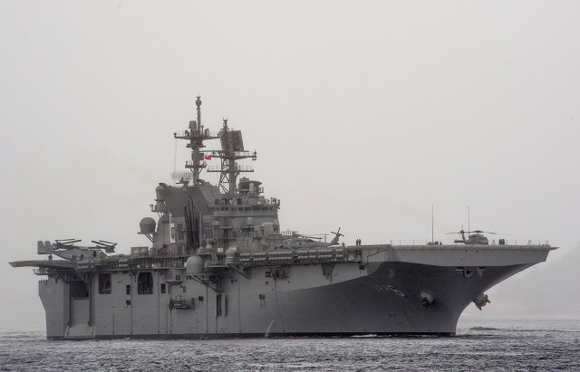 USS America is optimized for aviation and will be capable of supporting current and future aircraft, such as the tilt-rotor MV-22 Osprey and F-35B Joint Strike Fighter. (U.S. Navy photo by Mass Communication Specialist 1st Class John Scorza/Released)
