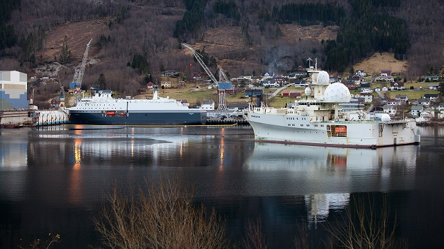 "On December 6th, the Norwegian Prime Minister christined the new electronic signals intelligence (ELINT) ""Marjata"". The vessel, which will replace an existing one bearing the same name in 2016, will be operated by the Norwegian Intelligence Service. The christening took place at the shipyard Vard Langsten in Tomrefjord Romsdal."