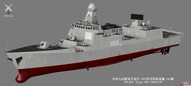 "Non official artist impression of Type 055 (also reffered as ""Fan Art"" in the Chinese Internet sphere)."