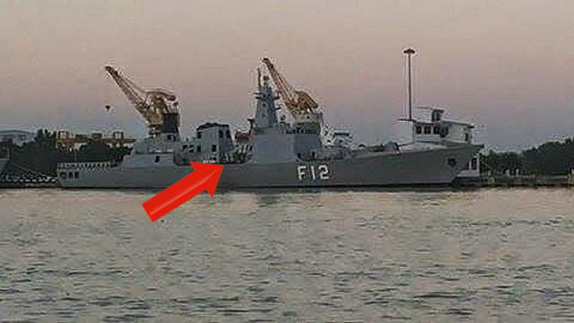 Based on a recently released picture, it appears that Myanmar Navy has fitted Eight Chinese made C-802 anti-ship missile launch canisters on board UMS Kyansittha Frigate (hull number F12).