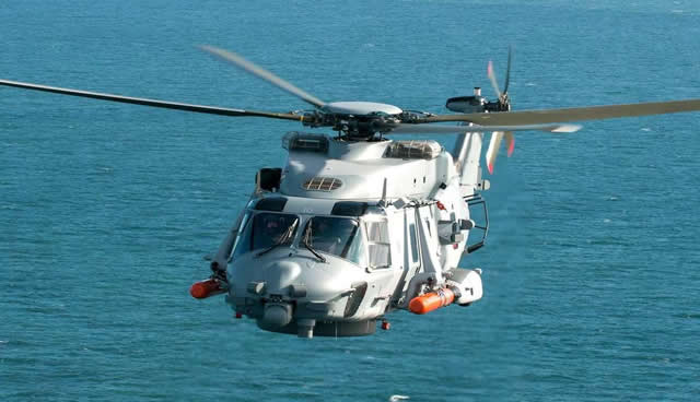 "NH Industries delivered the last NH90 NFH Caiman in ""Step B"" standard to the French Navy (Marine Nationale) on July 17, 2015. It is the fourteenth Caiman delivered out of the 27 on order by the French Navy."