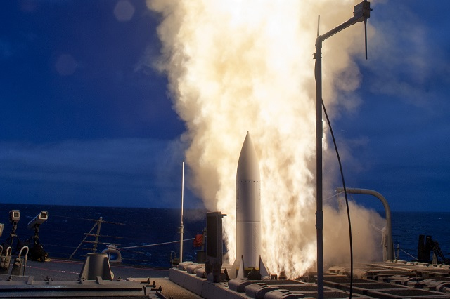 Guided-missile destroyer USS John Paul Jones (DDG 53) successfully conducted a series of five live-fire tests for the Baseline 9C Aegis Combat System during Combat Systems Ship's Qualification Trials (CSSQT) and Naval Integrated Fire Control Counter Air (NIFC-CA) capability, June 18-20.