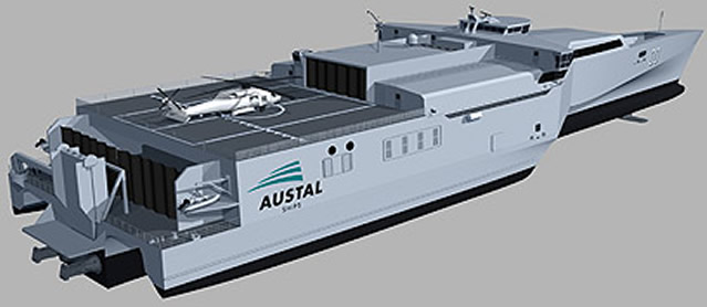 Austal Limited (Austal) is pleased to announce it has been awarded a contract from a naval customer in the Middle East for the design, construction and integrated logistics support of two 72 metre High Speed Support Vessels (HSSVs).