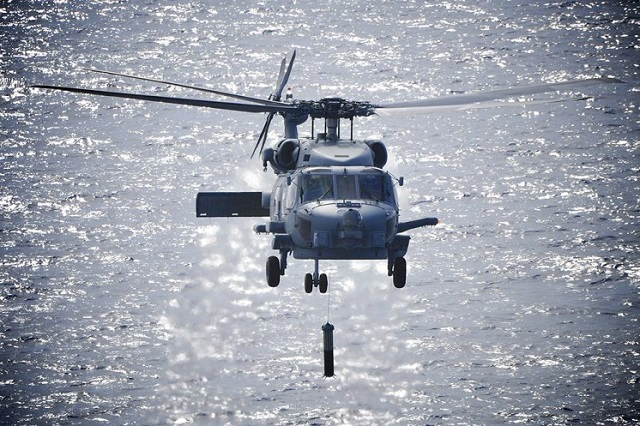 The Royal Australian Navy's MH-60R Romeo helicopter has had another system added to its arsenal, with the commencement of dipping operations off the coast of Jacksonville, Florida on 13 May. After five months of flying operations from Naval Air Station (NAS) Jacksonville, NUSQN 725 received its first Airborne Low Frequency Sonar System (ALFS) and with the complex process of installation, calibration and test flying behind them, the team eagerly put the ALFS through its paces...