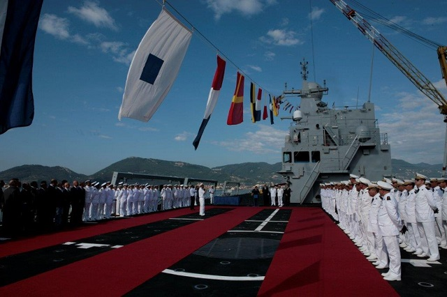 On September 4, 2014 at the Fincantieri Muggiano shipyard (in La Spezia) the Algerian Navy took delivery of the Kalaat Beni-Abbes BDSL (Batiment de Débarquement et de Soutien Logistique) amphibious vessel. The vessel was ordered in 2011 by the Ministry of Defence of the People's Democratic Republic of Algeria from Orizzonte Sistemi Navali, a company controlled by Fincantieri in which Selex ES also holds an interest, to serve as the national Navy's new flagship.