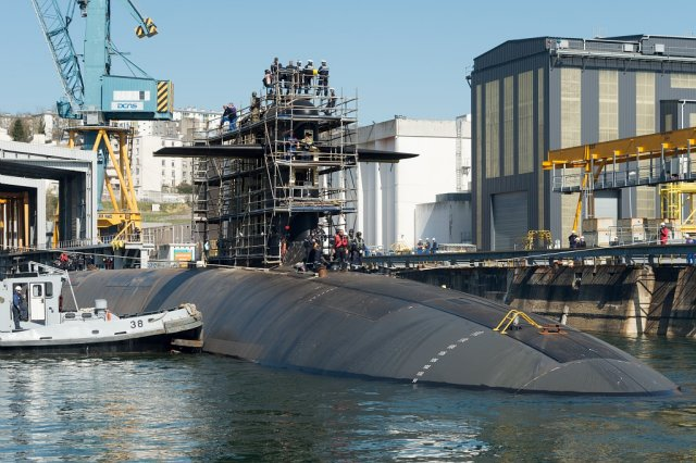 French SSBN Le Triomphant returns to its operational base in Brittany after maintenance program