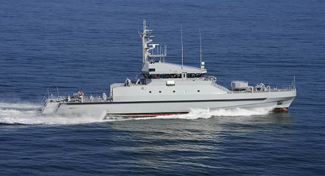 STX France announced the delivery of a new Offshore Patrol Vessel OPV 45 to Raidco Marine for the Senegalese Navy. The OPV is named Kedogou. The OPV 45 is a Raidco Marine design but it was built by STX France's shipyard of Lorient in Brittany.