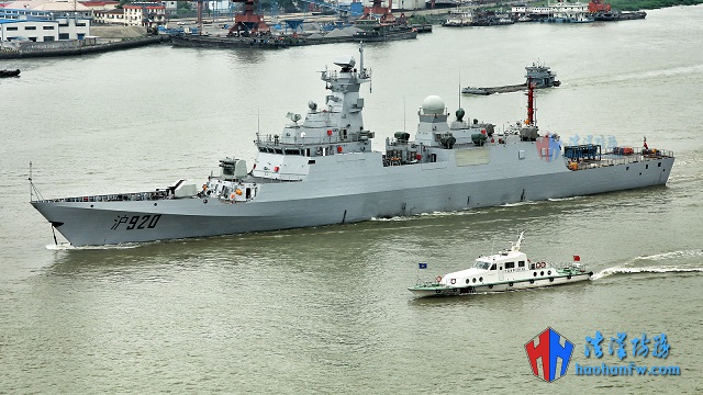 Chinese spotters took pictures showing the first of three future Algerian Navy C28A Corvette (hull number 920) sailing out of Hudong-Zhonghua shipyard near Shanghai under her own power for builder trials in the East China Sea.