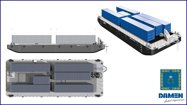 The Royal Moroccan Navy, in response to the severe drought that is currently affecting the country, recently awarded Damen Shipyards Group a contract to supply a Stan Pontoon 3011 Water Barge. Due to the urgent need for water in the region, Damen Shipyards Gorinchem, the Netherlands, is putting all its efforts into a fast delivery.