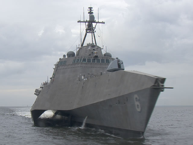 The U.S. Navy commissioned its newest Independence-variant littoral combat ship, USS Jackson (LCS 6), during a 10 CST ceremony Saturday, Dec. 5 in Gulfport, Mississippi. Jackson, designated LCS 6, honors the city of Jackson, Mississippi, and is the first U.S. ship in our nation's history to be named in honor of Jackson. Jackson, Mississippi was named for Andrew Jackson, the seventh president of the United States.