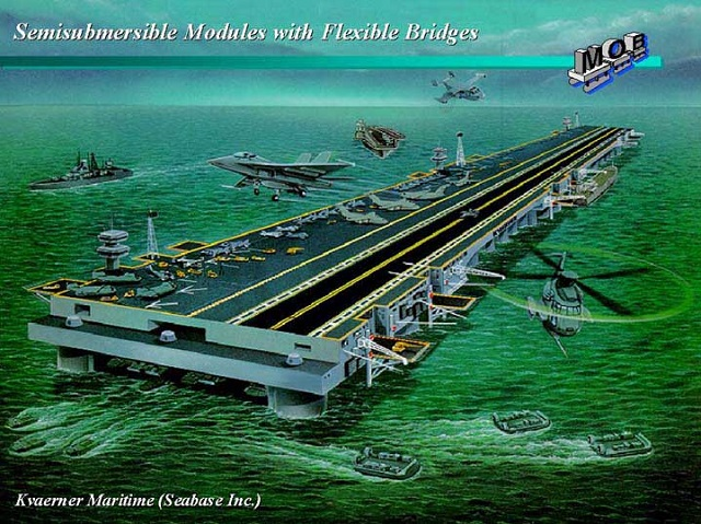 "China unveiled its first ""Very Large Floating Platform"" project which appears to be a 21st century iteration of the US Military ""Mobile Offshore Base"" concept. The project was unveiled to the public during the ""National Defense Science and Technology Achievements"" exhibition held recently in Beijing."