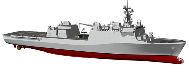 This new San Antonio class order will allow HII to keep the LPD 17 production line going and filling a gap until the future LX(R) amphibious ship program comes online in a few years. LX(R) / LPD Flight IIA rendering here. Image: Huntington Ingalls Industries.