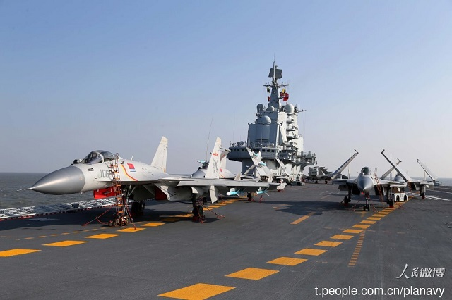 On December 25th, several official Chinese media (including CCTV 13 and CNTV) aired a TV report on the visit of the Commander of the People's Liberation Army Navy (PLAN or Chinese Navy) and the political commissar aboard China's aircraft carrier Liaoning (hull number 16). China Network Television (CNTV) then released some HD b-rolls that were filmed during the visit. It is the first time such high quality footage about the PLAN's carrier operations are released.