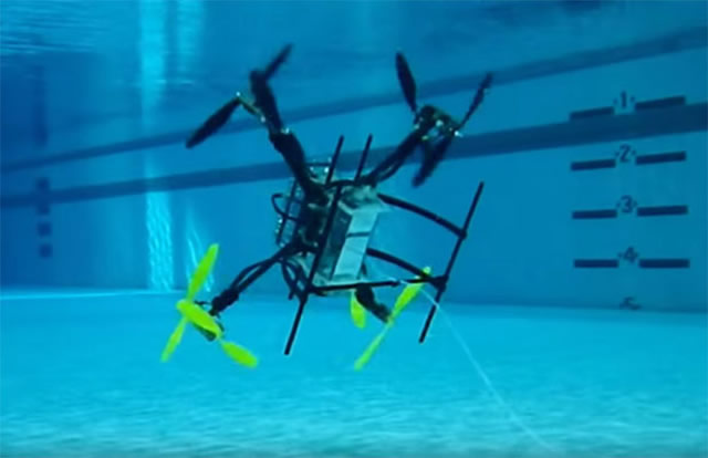 The Office of Naval Research (a U.S. Navy office that coordinates, executes, and promotes the science and technology programs of the U.S. Navy and Marine Corps) has awarded Rutgers University (the state university of New Jersey) a grant to develop a drone – equally adept at flying through the air and navigating underwater – that could speed search-and-rescue operations, monitor the spread of oil spills and even help the Navy rapidly defuse threats from underwater mines.
