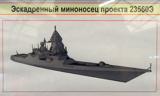 "Image showing the notional design of Project 23560E ""Leader Class"" Destroyer as of mid-2015."