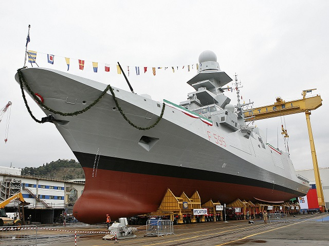 "The launching ceremony of the frigate ""Luigi Rizzo"", the sixth of a series of 10 FREMM vessels - Multi Mission European Frigates – took place today at the Riva Trigoso shipyard (Genoa). The 10 FREMM vessels have been commissioned to Fincantieri by the Italian Navy within the framework of an Italo-French cooperation program under the coordination of OCCAR (Organisation Conjointe de Cooperation sur l'Armement, the international organization for cooperation on arms)."