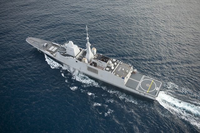 The sale of a multimission frigate (FREMM) by DCNS to Egypt has been formalized. To respond to the request formulated by Egypt, the sale transaction took shape in a very short time, not compatible with the usual procedures and the construction from scratch of a new vessel. The only solution to ensure on-time delivery iss therefore to deliver to Egypt one of the FREMM originally intended for the French Navy: The Normandie frigate currently in final systems fitting out in Lorient and property of DCNS.