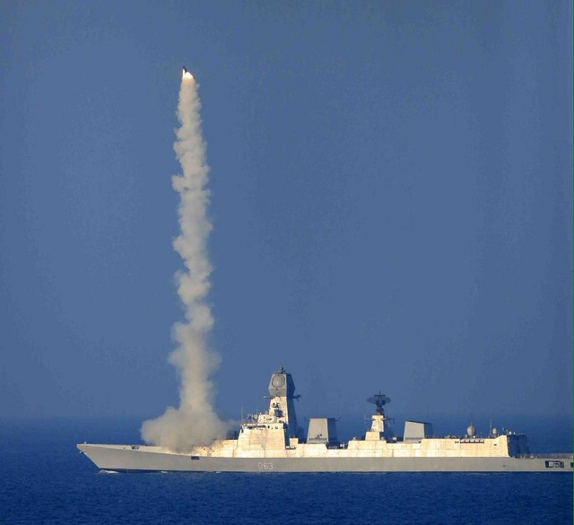 BRAHMOS Supersonic Cruise Missile was successfully test fired from the Indian Navy's newest destroyer INS Kolkata. The launch was flawless and the missile met all its designed parameters.