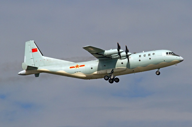 PLAAF Y-9 Tactical Transport Aircraft. It is the base platform for new generation special missions airfract of the PLAAF and PLAN