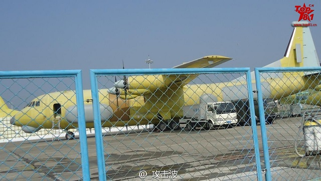 New Chinese Electronic Warfare Aircraft for PLAAF based on Shaanxi Y-9 Tranport Aircraft