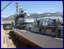 Navy Recognition recently had the opportunity to witness the overhaul operations (also referred as refit) of French Navy Cassard class frigate Jean Bart. This operation takes place in a dry dock located inside the French naval base of Toulon in Southern France.