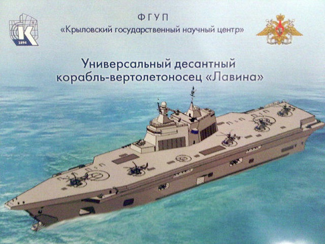 Russian MoD: First LHD Amphibious Assault Ship to be Built in Russia by 2022