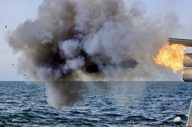 During a recent Russian Navy anti-submarine warfare (ASW) exercise, Steregushchiy class corvette Boiky (Project 2038.1) fired a live Paket-NK torpedo. The exercise also involved Parchim-class corvette Kalmykia (Project 1331M), Kilo class submarine Vyborg (Project 877) and a Kamov Ka-27 ASW helicopter.
