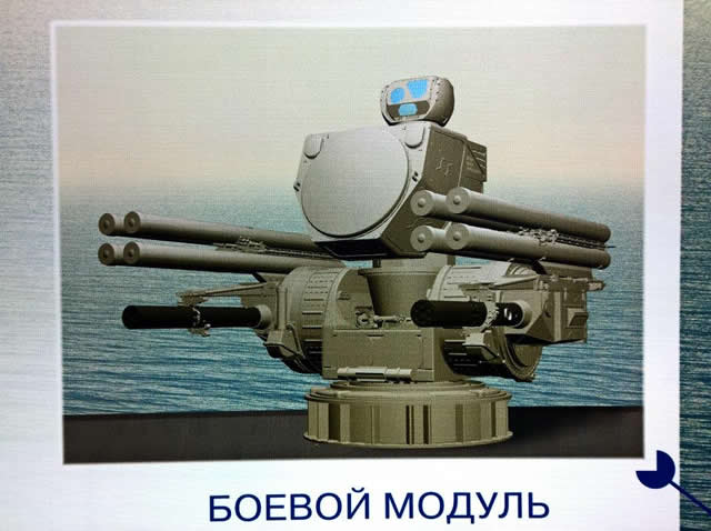 Project 22800 corvettes will in the future be armed with ship-based air defense systems, specifically, Pantsir-M air defense missile/gun system, Vice-Admiral Victor Barsuk, Russian Navy Deputy Commander for armaments, said.