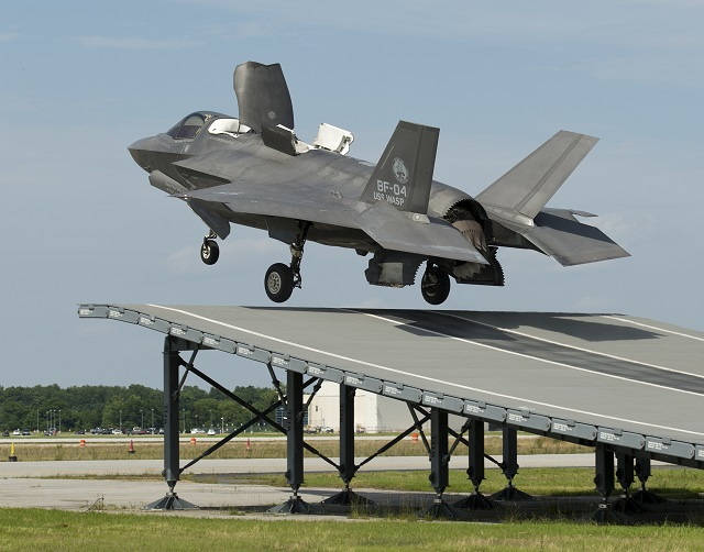 "An F-35B Lightning II completed the first ramp-assisted short take off to test the aircraft's compatibility with British and Italian aircraft carriers. ""This test was a success for the joint ski jump team,"" said Peter Wilson, BAE Systems F-35 test pilot and U.K. citizen, who flew the June 19 mission at Naval Air Station Patuxent River, Maryland. ""The aircraft performed well and I can't wait until we're conducting F-35 ski jumps from the deck of the Queen Elizabeth carrier."""