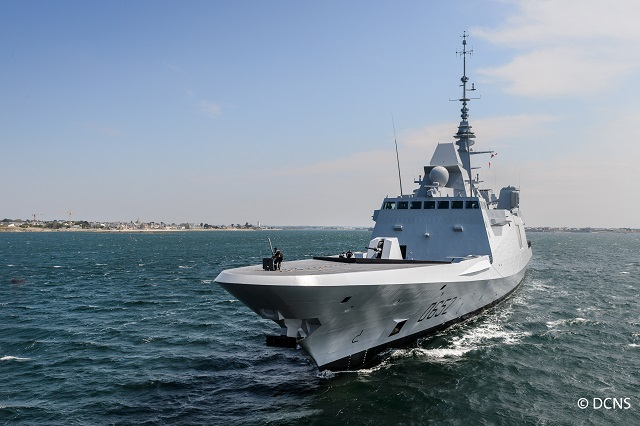 On June 12th in Brest, DCNS delivered the FREMM multi-mission frigate Provence to the French Navy, as stipulated in the contract. This frigate is the second of the series ordered by OCCAR on behalf of the DGA (French armament procurement agency). Delivery of the FREMM multi-mission frigate Provence is the result of a design and construction process managed by DCNS in close cooperation with the French Navy, DGA and OCCAR teams.