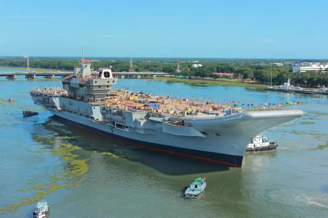 India on June 10th undocked its first indigenously-built aircraft carrier INS Vikrant at Cochin Shipyard Limited (CSL) in the South West of the country. The ship, built at CSL, will now undergo final outfitting followed by a series of sea trials before its induction into the Indian Navy.