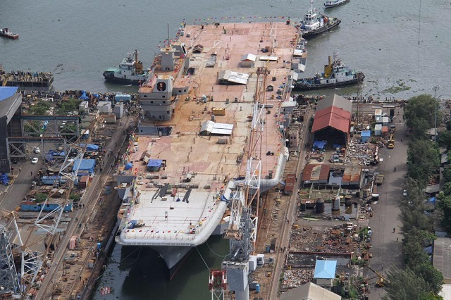 India on June 11th undocked its first indigenously-built aircraft carrier INS Vikrant at Cochin Shipyard Limited (CSL) in the South West of the country. The ship, built at CSL, will now undergo final outfitting followed by a series of sea trials before its induction into the Indian Navy.