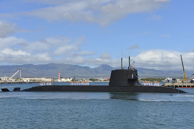 Japan Maritime Self Defense Force (JMSDF) Soryu class submarine Hakuryu (SS-503)
