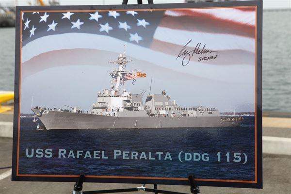 "The future USS Rafael Peralta (DDG 115) achieved ""light off"" of its Aegis Combat System at the Bath Iron Works (BIW) shipyard Dec. 17. The Aegis system light off marks the beginning of combat system testing for the ship. These comprehensive tests will ensure all combat system equipment is operational and communicative."