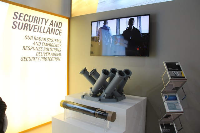 At the Defense and Security 2015, Terma displayed the proven C-Guard Soft-Kill Weapon System (SKWS) – a decoy launcher system for naval platforms made to defeat stream attacks with multiple missiles and torpedoes from multiple directions.
