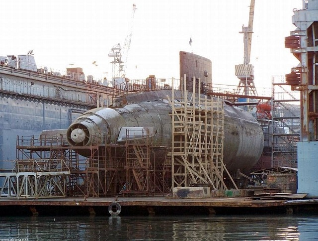 According to Russia's governmental procurement website, the 13th Shipyard in Sevastopol is planning to complete the repair of the Project 877V Kilo-class B-871 Alrosa diesel-electric submarine in 2015. The repair and upgrade will enable the submarine to operate with the Russian Navy Black Sea Fleet until 2020. Then the boat will have to get back to the dock of the 13th Shipyard again.