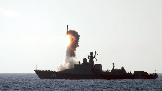 Yesterday morning, ships of the Russian Navy Caspian Flotilla launched 26 cruise missiles at targets of the Islamic State (IS) terrorist organization in Syria, with IS being banned in Russia, Russian Defense Minister Sergei Shoigu reported to President Vladimir Putin in a meeting.