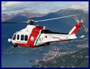 Leonardo-Finmeccanica announced an order for additional two AW139 intermediate twin helicopters by the Italian Coast Guard. This latest contract will increase the customer's fleet of AW139s to twelve. The AW139s will be used to perform a range of missions including maritime patrol, search and rescue (SAR), and emergency medical services. The latest order also includes options for a further two helicopters.