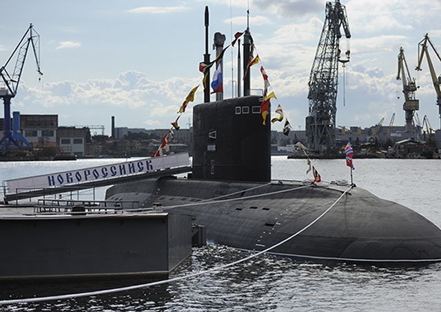 A naval base currently under construction in Novorossiysk in south Russia will receive up to seven diesel-electric submarines at a time, Head of the 4th Main Department of the Russian Federal Agency for Special Construction (Spetsstroy) Mikhail Tashlyk said.