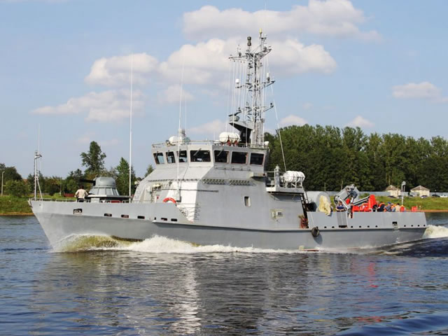 The Sredne-Nevsky Shipyard (Russian acronym: SNSZ, a subsidiary of the United Shipbuilding Corporation, OSK) has commenced the trials of the first Project 10750E (E stands for export-oriented, Eksportny) mine countermeasures (MCM) vessel intended for Kazakhstan, according to the company`s press department.