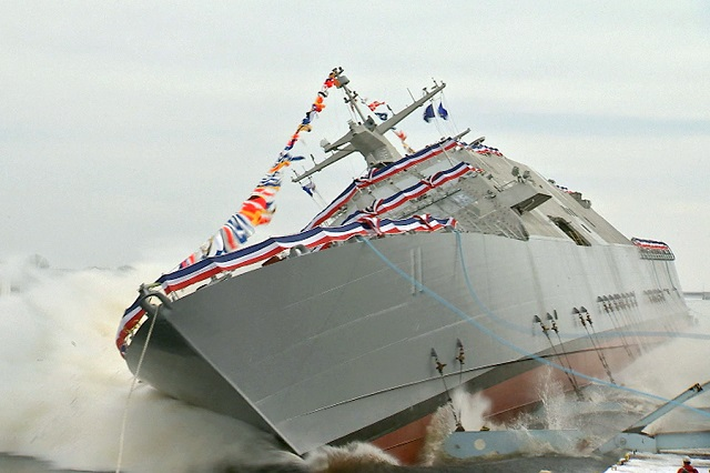 The Lockheed Martin-led industry team launched the nation's 11th Littoral Combat Ship (LCS) Sioux City (a Freedom class Littoral Combat Ship) into the Menominee River at the Fincantieri Marinette Marine (FMM) shipyard January 30th.