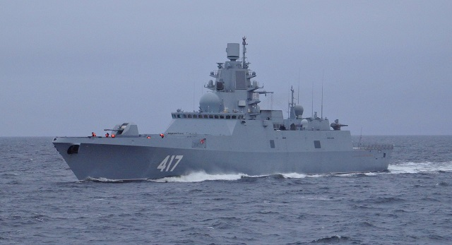 The Russian Northern Fleet's Project 22350 lead frigate Admiral Gorshkov has used the A-192 130mm universal artillery system to hit aerial targets in the Barents Sea, the fleet's press office said on Wednesday. The frigate has tested the A-192 artillery system as part of its technical trials.