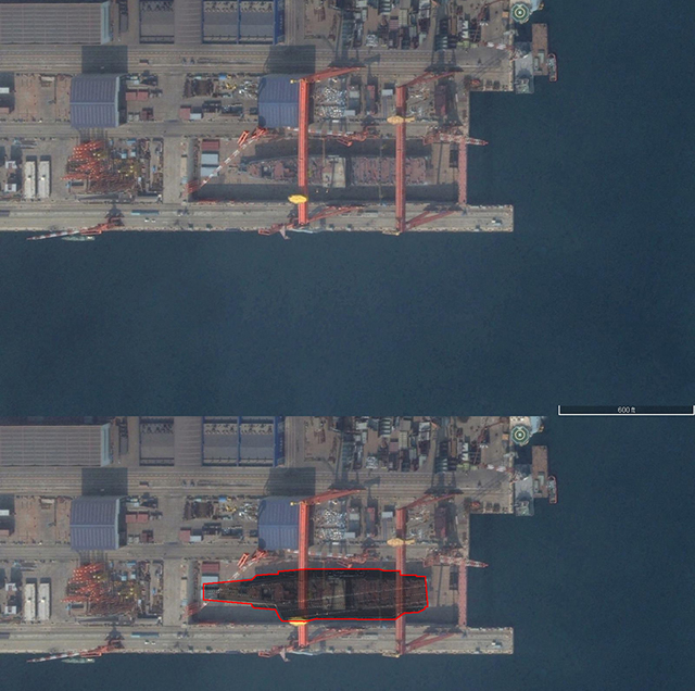 "Yang Yujun, a Chinese Defense Ministry spokesperson, confirmed on December 31st that China is designing and building its second aircraft carrier ""completely on its own"" a the shipyard in Dalian in northeastern Liaoning Province. Yujun added explained during the last monthly press briefing of 2015 that this carrier, with a displacement of 50,000 tonnes, is designed to accommodate J-15 Flying Shark fighters and other types of aircraft."