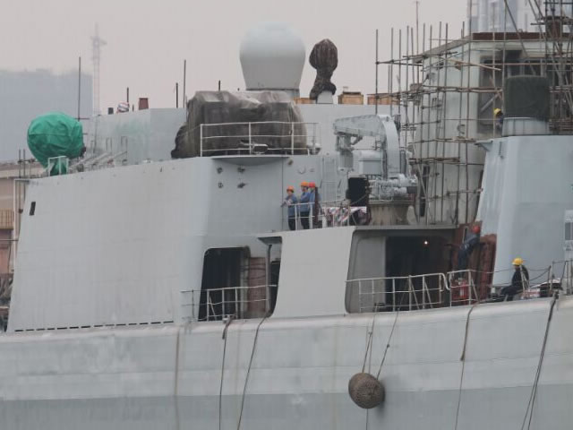 Based on the picture, the destroyer has been fitted with H/PJ-11 eleven-barreled 30mm Close In Weapon System (CIWS) (the system is reffered sometimes as Type 1130 which is the export designation). One H/PJ-11 is visible on starboard side but it is almost certain another one is fitted on the port side, in a similar configuration to the Type 054A Frigates of the PLAN. The CIWS are replacing the old Type 76A 37mm anti-aircraft guns on Shenzhen.