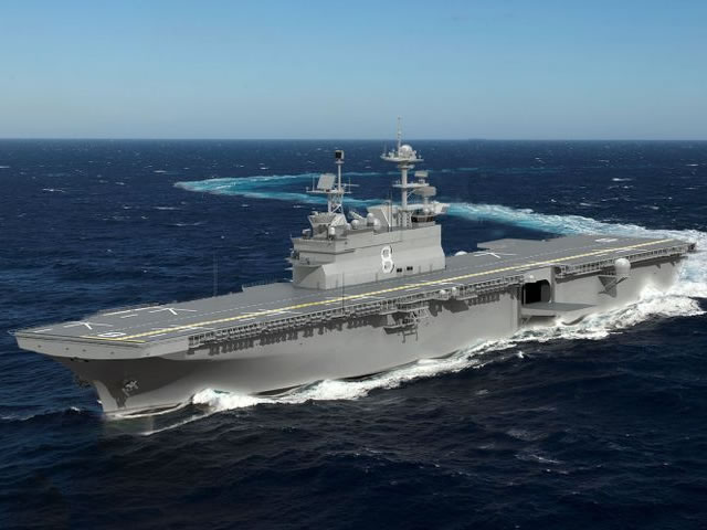 HII Awarded $3 Billion To Build Amphibious Assault Ship Bougainville (LHA 8)