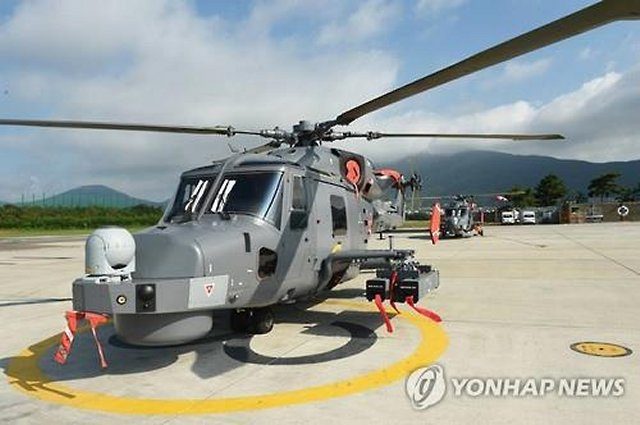 According to Yonhap News Agency, South Korea's Navy said Wednesday it has received an initial delivery of four Wildcat helicopters it purchased as part of its ongoing efforts to beef up its fighting capability.